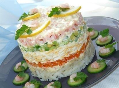 Как оригинально украсить салат